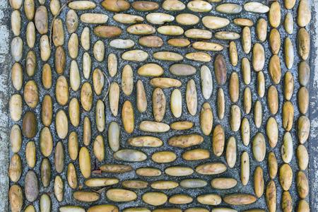 Background of rocky gravel stones closeup Standard-Bild