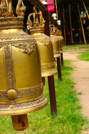 Bell in Jed-Yod Temple at Chieng-Mai photo