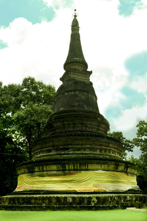 The pagoda in Thailand photo