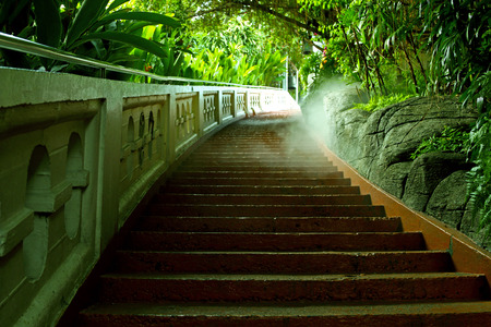 Staircase at Thailand temple photo