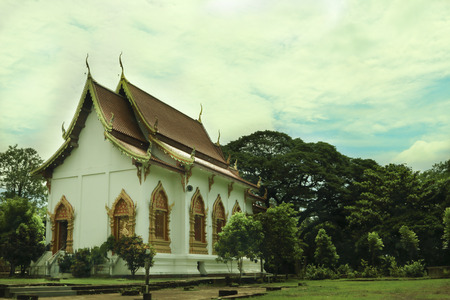 Thailand architecture at Chiangmai photo