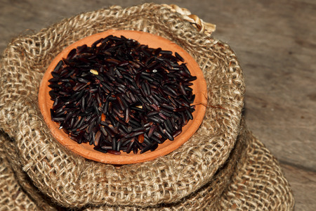 black sesame: Coffee beans and black sesame and rice for decoration.