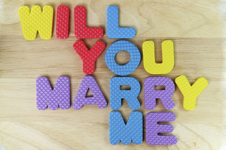 will you marry me: Wording Will you marry me for background. Stock Photo