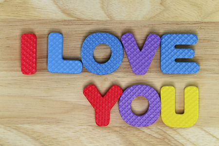 wording: Wording I Love You for background. Stock Photo