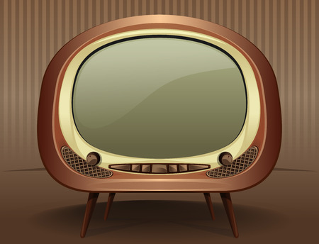 retro tv: Vintage TV. Vintage television in the style of the 50s - 60s. Old TV. Vector Retro TV on a vintage background.