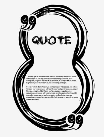 Drawn Quotes And A Frame. Frame In The Shape Of A Figure Eight ...