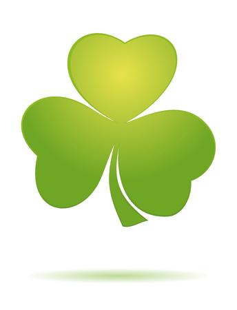 Shamrock clover. Vector green clover icon. Trifoliate clover. Green leaf clover. St. Patricks Day celebration symbol. Vector illustration