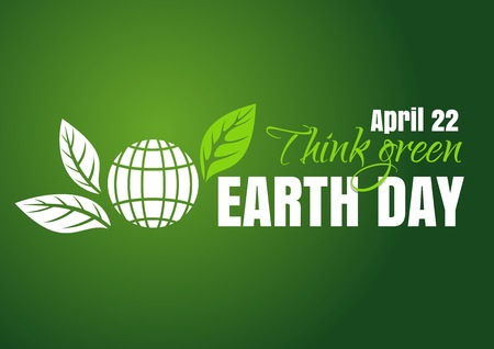 Earth Day typographic poster design.