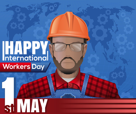 erector: Labor Day card. 1 May. International Workers Day