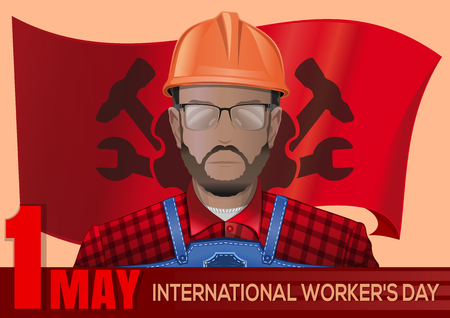 International Workers Day design. 1 May
