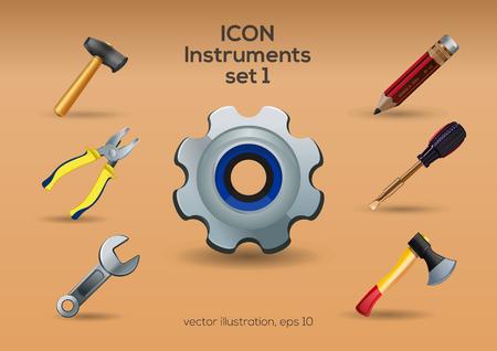 Instruments icon set