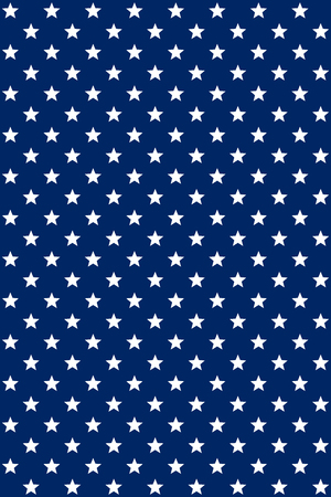 Seamless pattern USA flag colors. Abstract blue modern seamless pattern with white stars. Vector seamless background