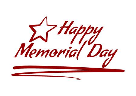 Happy Memorial Day diseño de tarjeta de inscripción