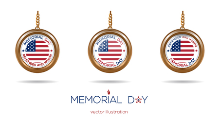 Medallions set on the chain for Memorial Day Stok Fotoğraf - 78608091
