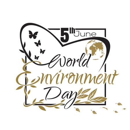 World Environment Day-kaart met letters