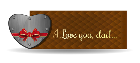 Fathers Day banner card design Illustration
