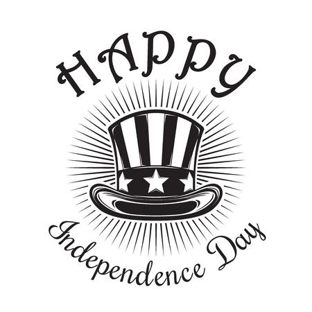 Fröhlichen Unabhängigkeitstag. Vierter Juli Vektorgrafik