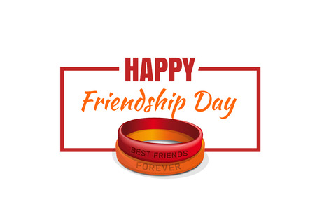 Best Friends Forever Happy Friendship Day Greeting Card Vector