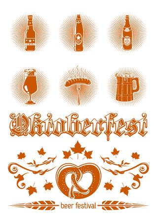 Oktoberfest icon set Ilustrace