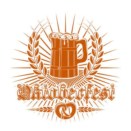 pretzel: Oktoberfest logo design