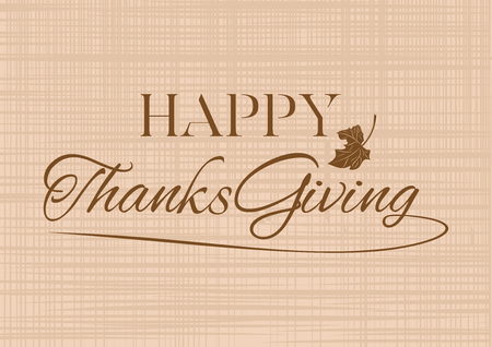 Thanksgiving lettering card