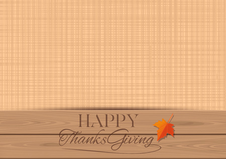 Thanksgiving vintage with free space for text