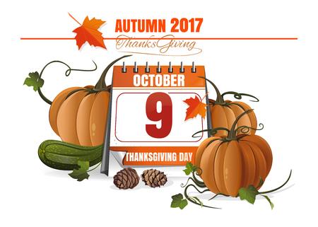 Thanksgiving design banner Illustration