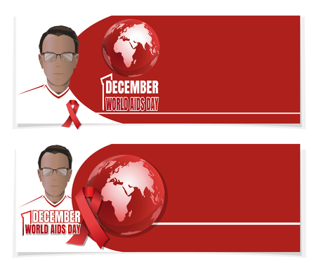 World AIDS Day banner set