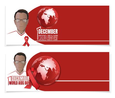 World AIDS Day banner set