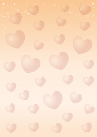 Romantic hearts pattern design vector illustration Illustration