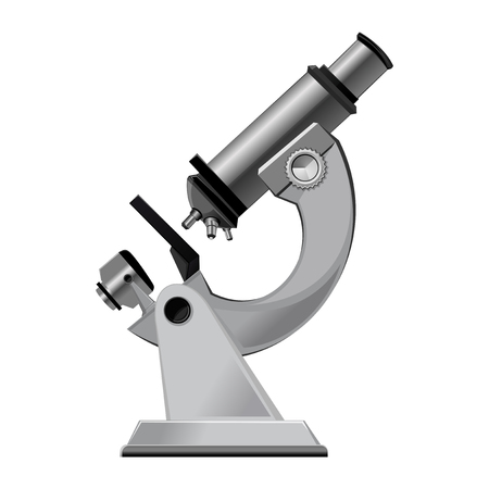 Laboratory microscope isolated on a white background. Vector illustration Illustration