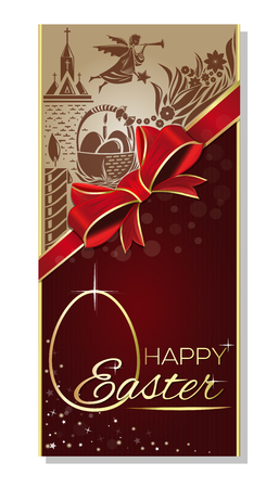 Easter Template for cards, banners, posters design  イラスト・ベクター素材