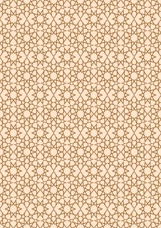Seamless stellar pattern in Arabian style. Background with seamless pattern in islamic style. Vector illustration