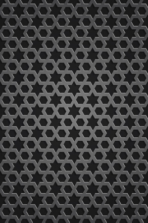 Stellar seamless pattern. Islamic pattern. Endless texture. Metal grille with an ornament in Islamic style. Vector illustration Standard-Bild - 102095480