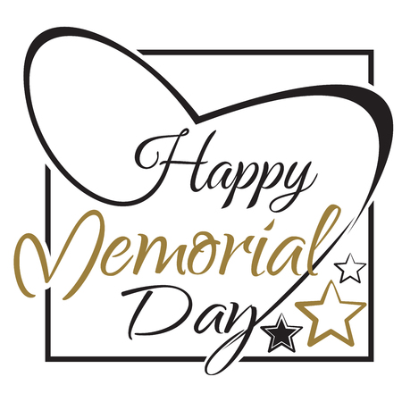 Happy Memory Day lettering card design. National american holiday. Festive banner for Memory Day. Vector illustration Vectores