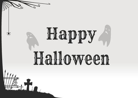 Poster concept design for Halloween. Vector card