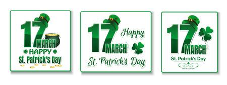 Vector logo design set for St. Patricks Day