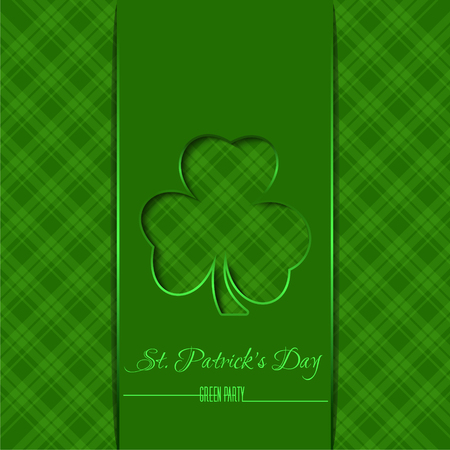 Green template, background for St. Patricks Day Çizim