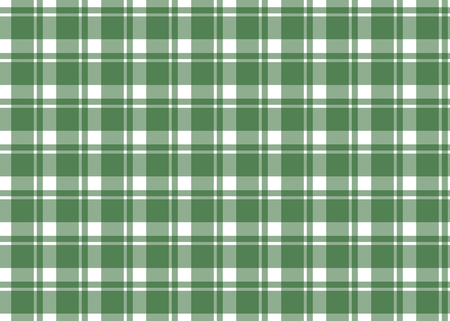 Green checkered tablecloth. Green gingham seamless pattern. Texture from squares for plaid, tablecloths and other textile products. Vector illustration Çizim