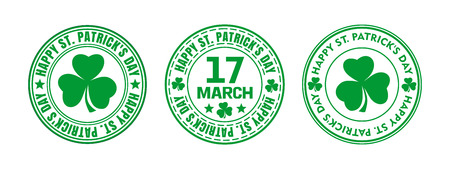Green round stamp for St. Patricks Day