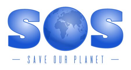 Save our planet SOS Environmental protection card