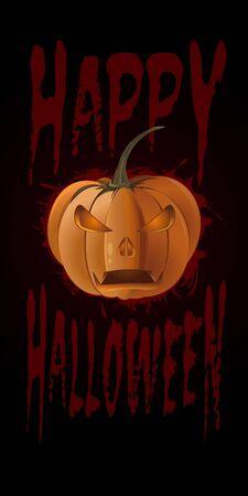 Happy Halloween design with jack o lantern Illustration