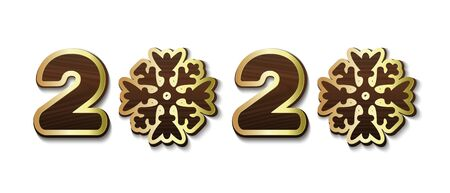 Stylized text with snowflakes instead of zeros