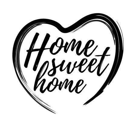 Lettered phrase Home Sweet Home inside the heart