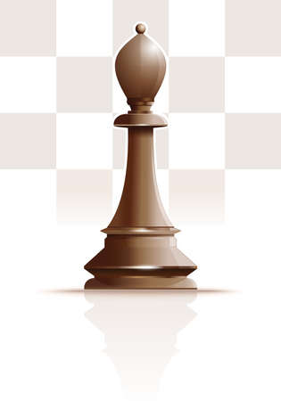 White chess figure officer. Realistic vector icon