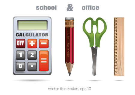 School and office icon set. Vector illustration