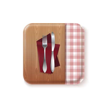 Bon appetit kitchen concept design vector icon