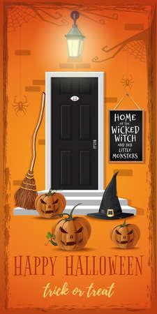 Vertical banner for a Halloween night party Иллюстрация