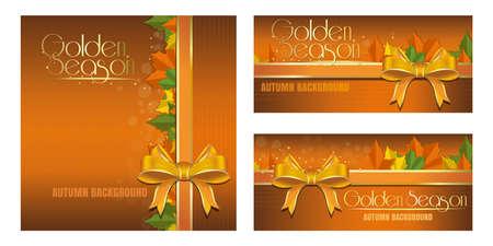 Abstract autumn design for flyers. Golden Season