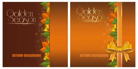 Golden Season. Templates for your autumn design Иллюстрация